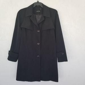 Calvin Klein Black Rain Coat XL